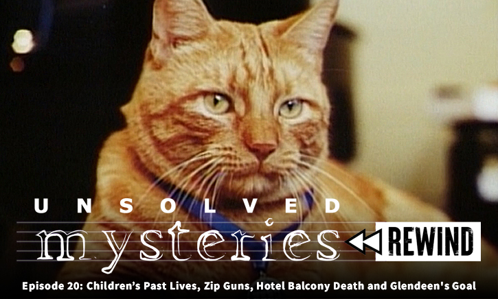 Unsolved Mysteries Rewind EP20: Children's Past Lives, Zip Guns, Hotel Balcony Death and Glendeen's Goal